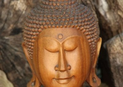 Bali wood Buddha head